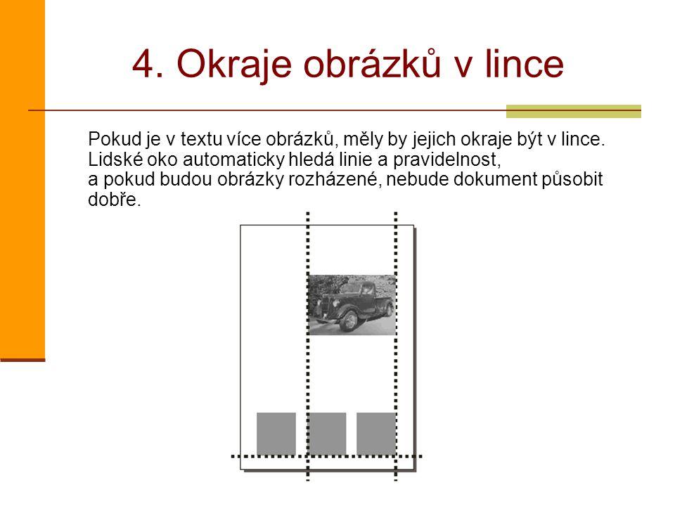 4. Okraje obrázků v lince
