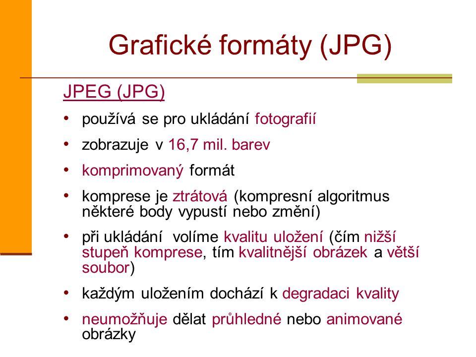 Grafické formáty (JPG)