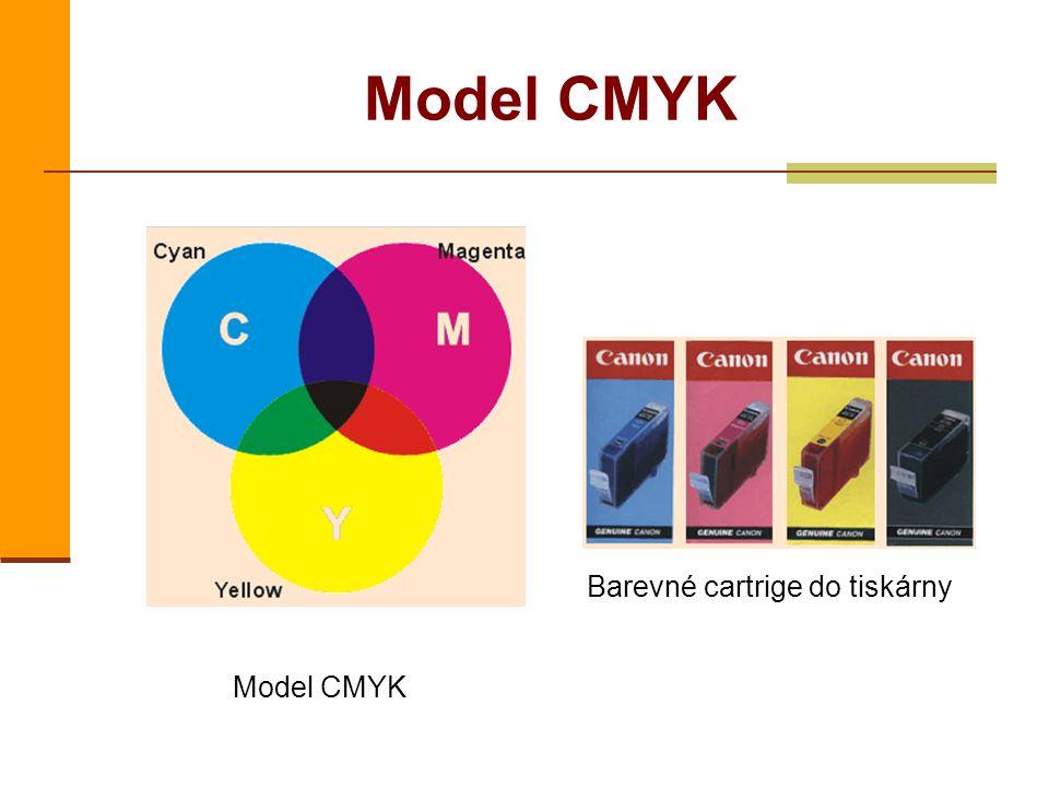 Model CMYK Barevné cartrige do tiskárny Model CMYK