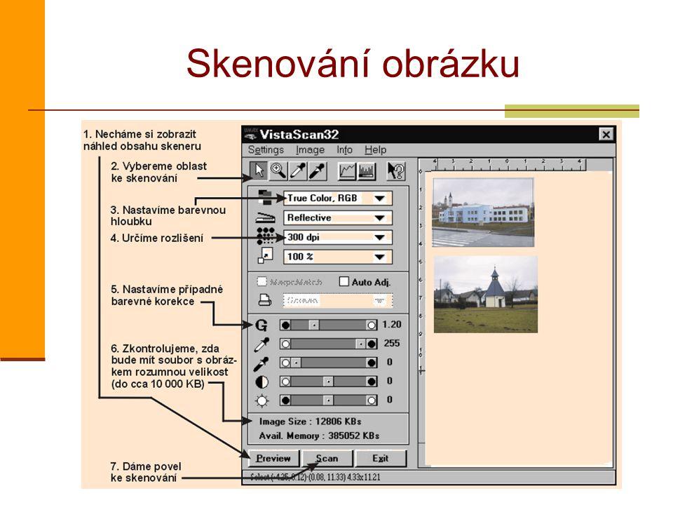 Skenování obrázku