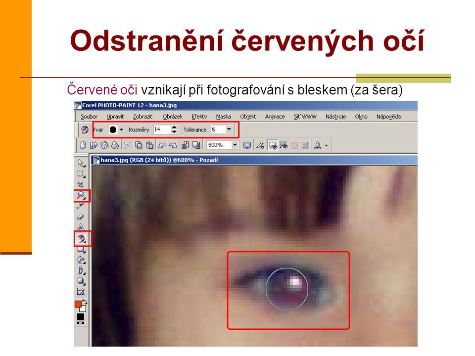 Odstranění červených očí