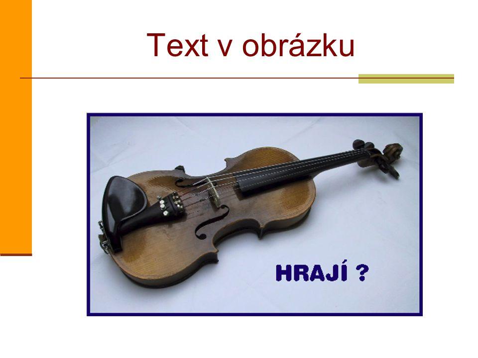 Text v obrázku