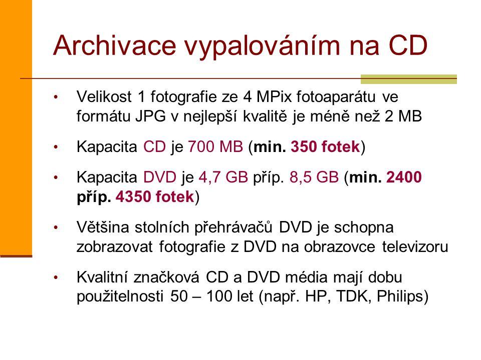 Archivace vypalováním na CD