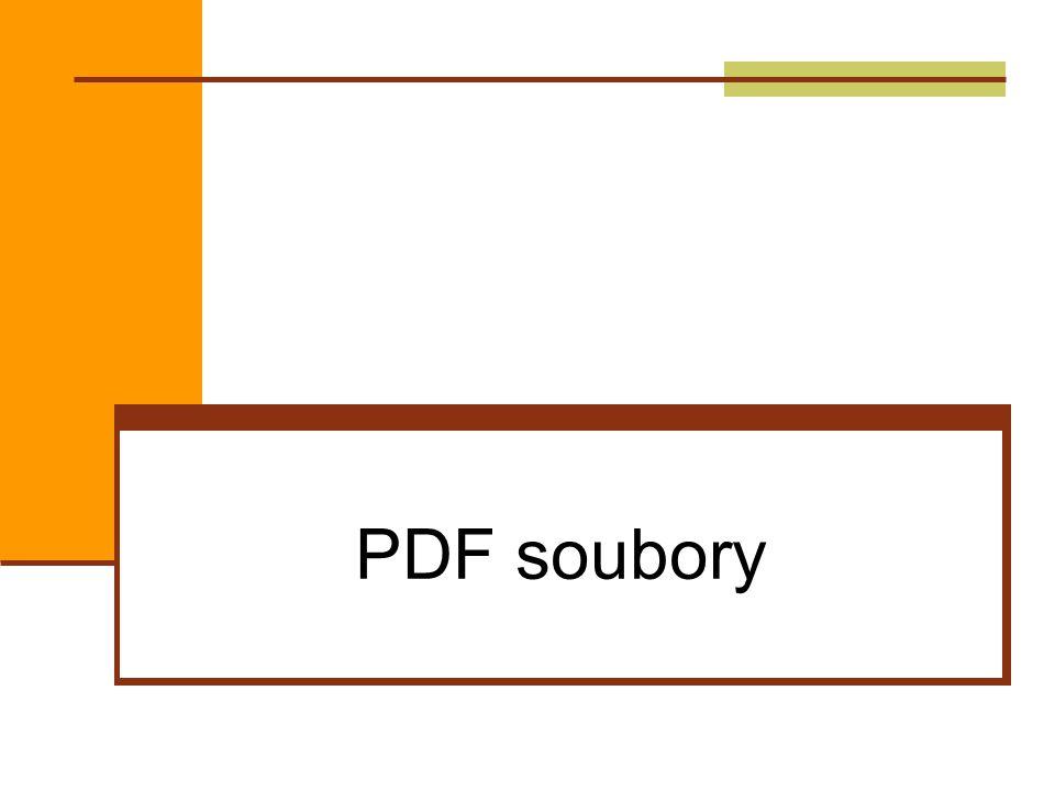 PDF soubory