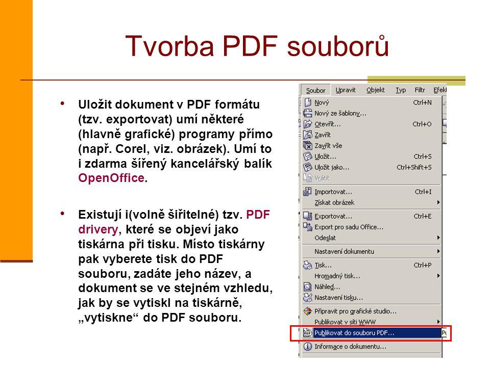 Tvorba PDF souborů
