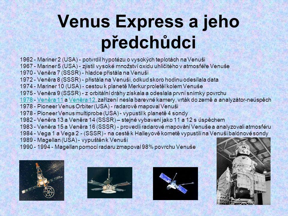 Venus Express a jeho předchůdci