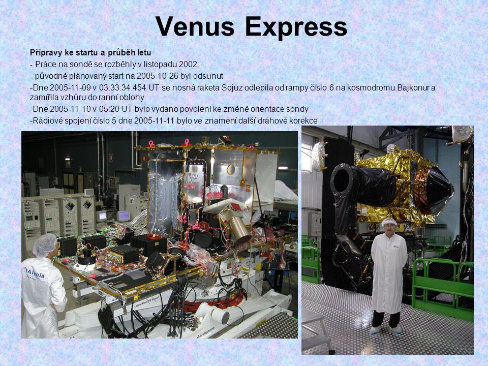 Venus Express Přípravy ke startu a průběh letu