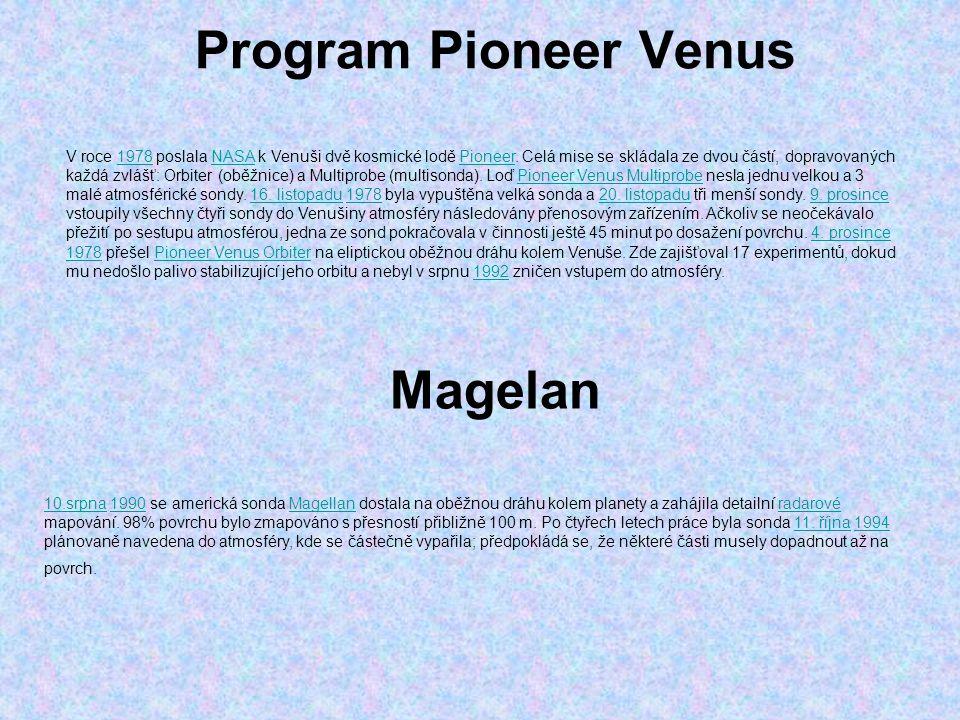 Program Pioneer Venus Magelan