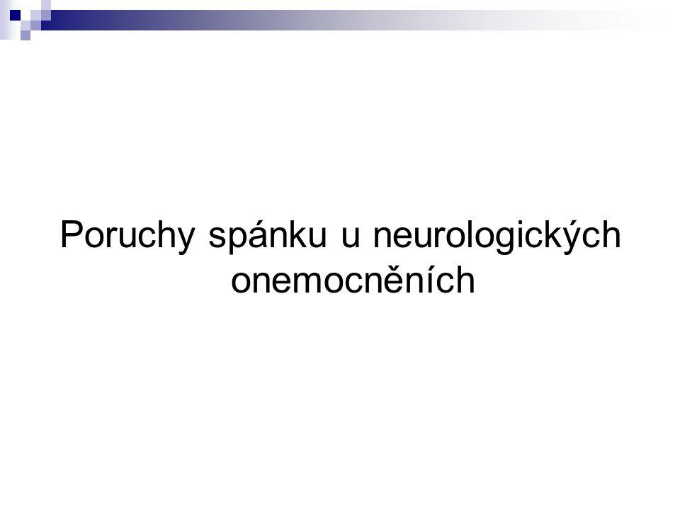 Poruchy spánku u neurologických onemocněních
