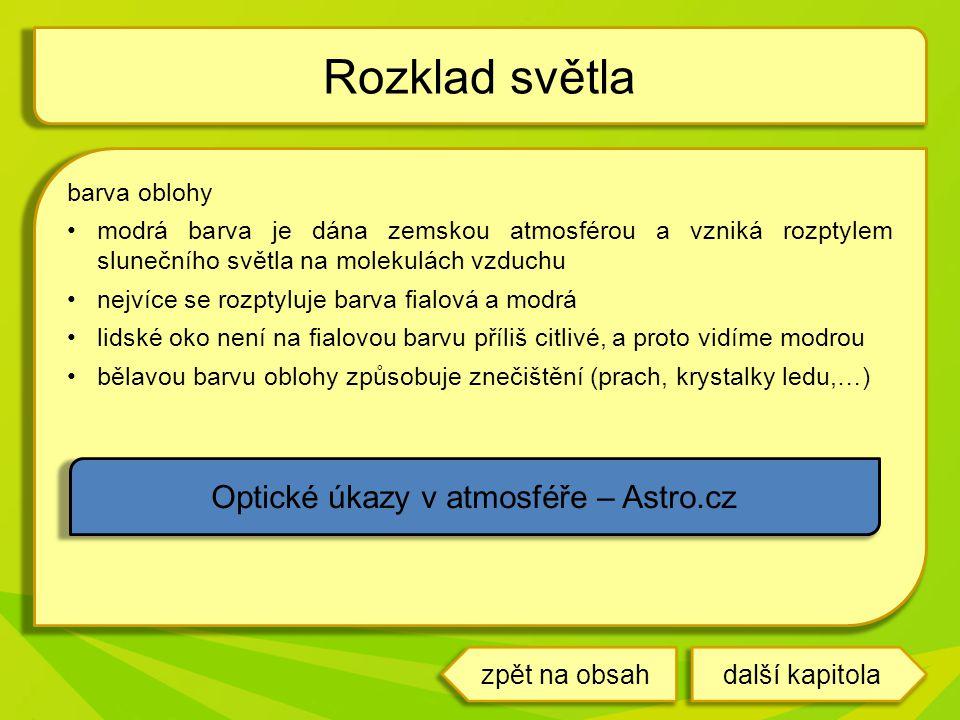 Optické úkazy v atmosféře – Astro.cz