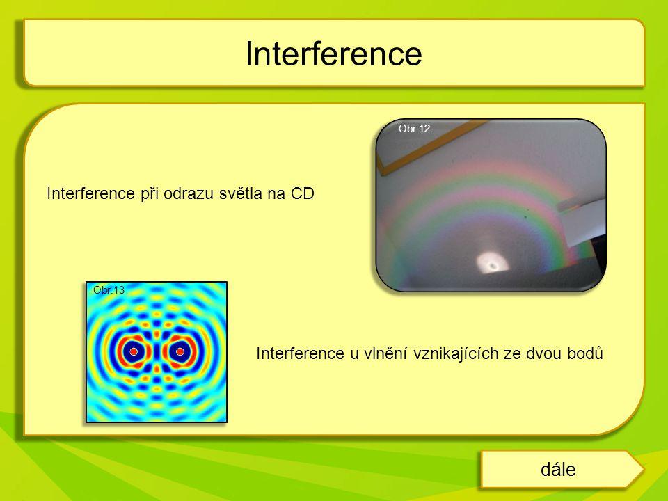 Interference dále Interference při odrazu světla na CD