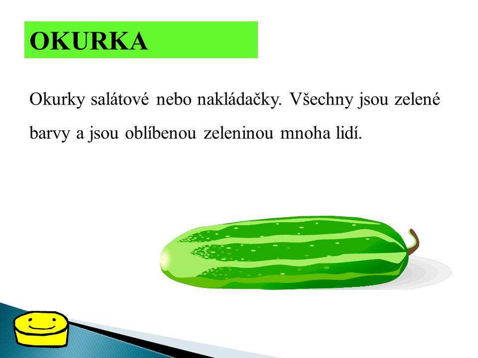 OKURKA Okurky salátové nebo nakládačky.