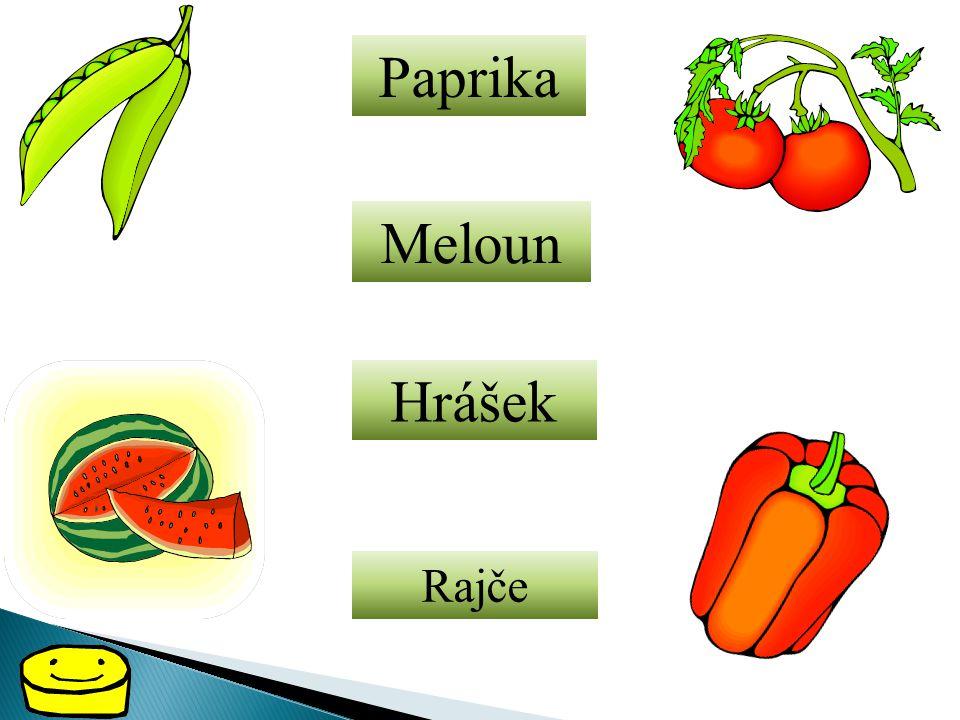 Paprika Meloun Hrášek Rajče