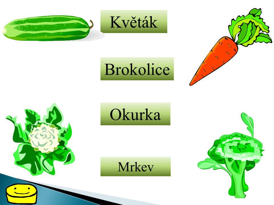 Květák Brokolice Okurka Mrkev
