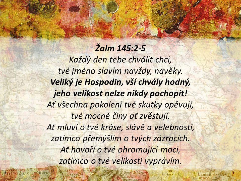Žalm 145:2-5