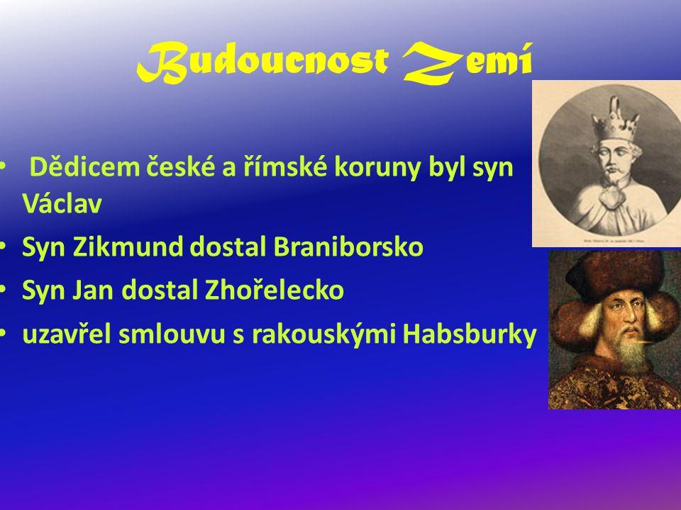Budoucnost Zemí Dědicem české a římské koruny byl syn Václav