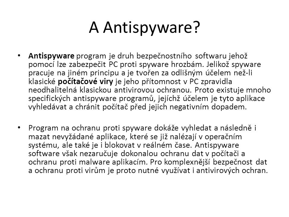 A Antispyware