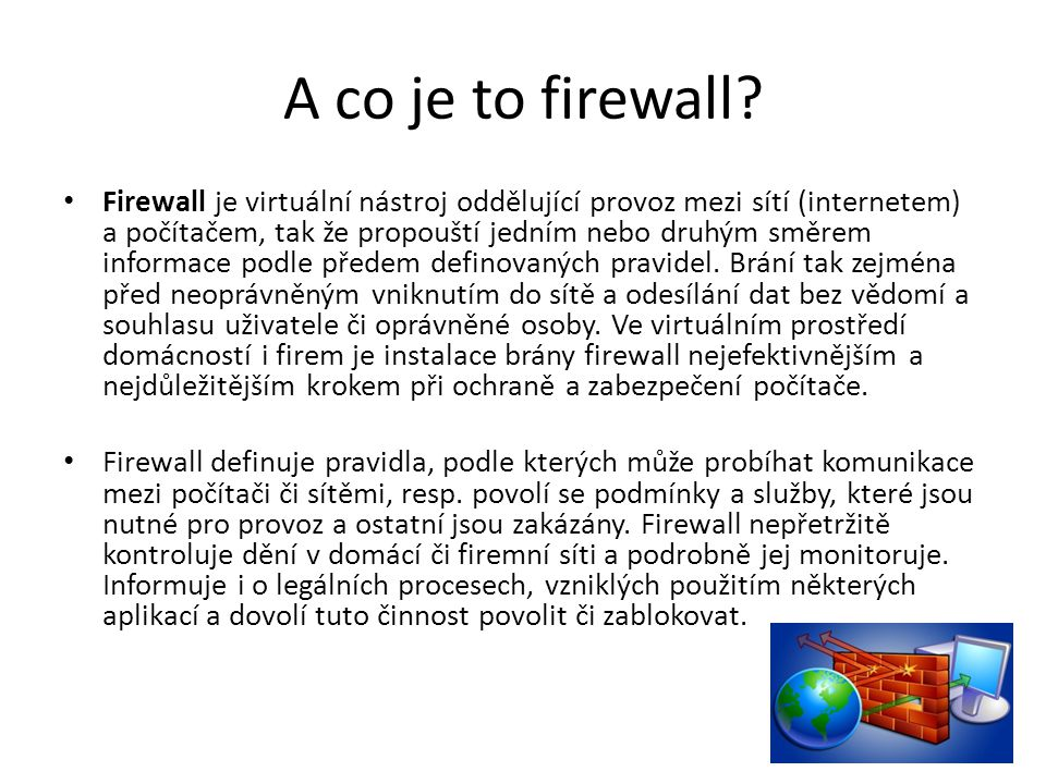 A co je to firewall
