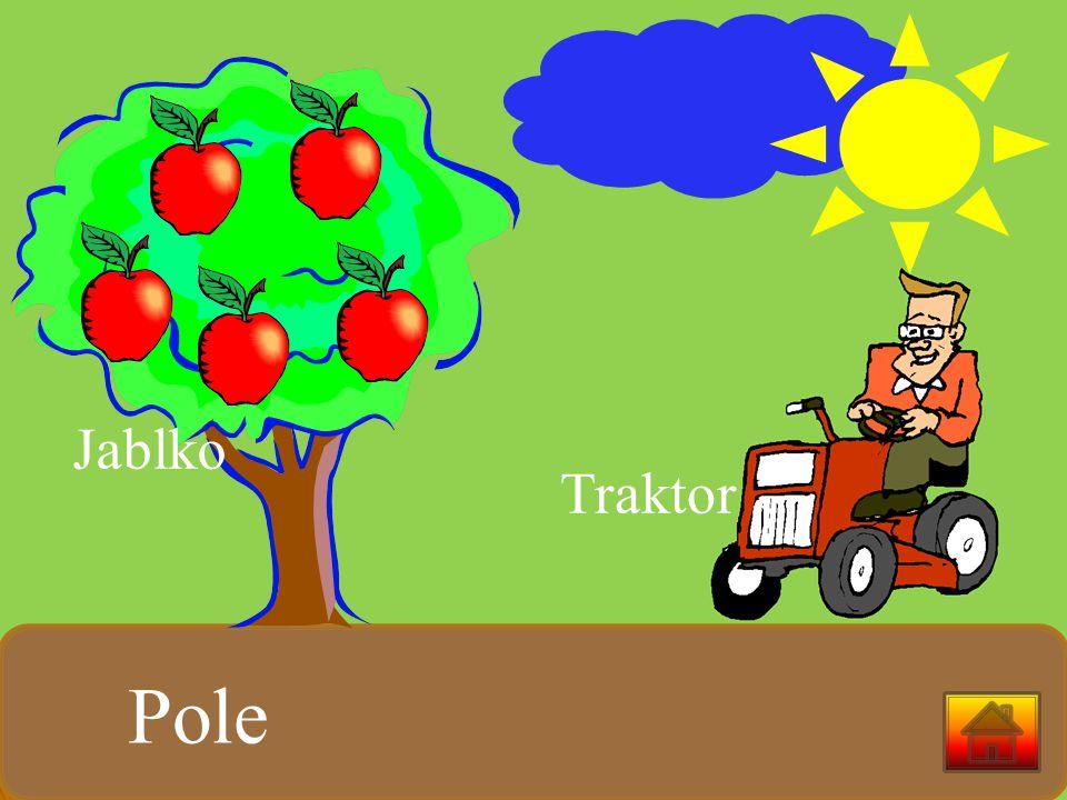 Jablko Traktor Pole