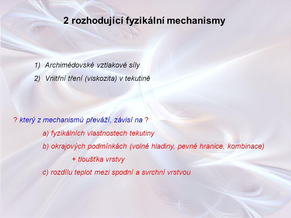2 rozhodující fyzikální mechanismy