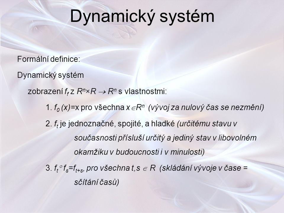 Dynamický systém Formální definice: Dynamický systém