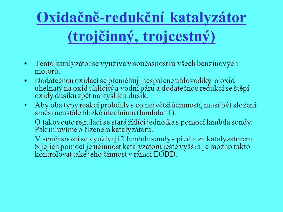 Oxidačně-redukční katalyzátor (trojčinný, trojcestný)
