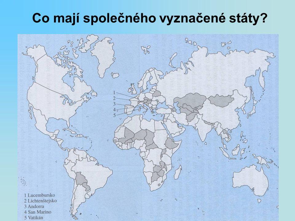 Co mají společného vyznačené státy