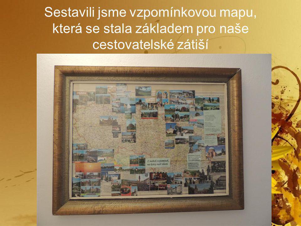 Sestavili jsme vzpomínkovou mapu, která se stala základem pro naše cestovatelské zátiší