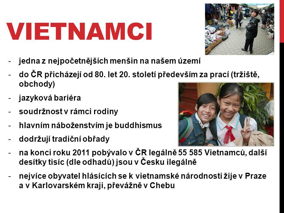 vietnamci jedna z nejpočetnějších menšin na našem území