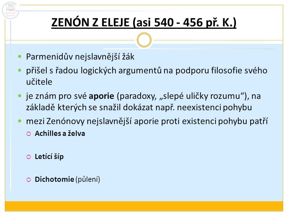 ZENÓN Z ELEJE (asi 540 - 456 př. K.)