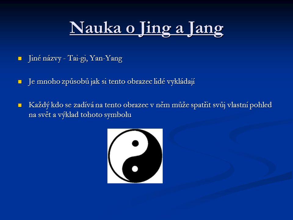 Nauka o Jing a Jang Jiné názvy - Tai-gi, Yan-Yang