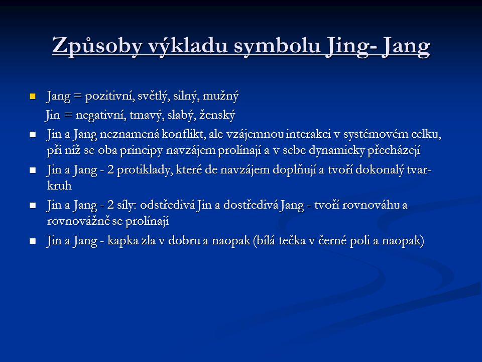 Způsoby výkladu symbolu Jing- Jang
