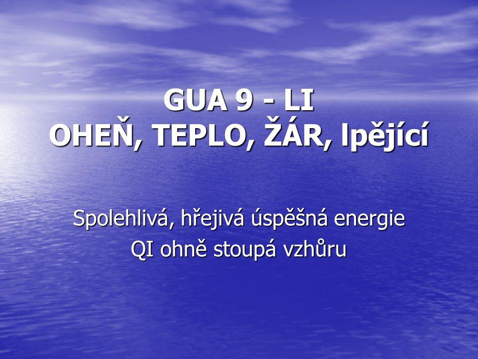 GUA 9 - LI OHEŇ, TEPLO, ŽÁR, lpějící