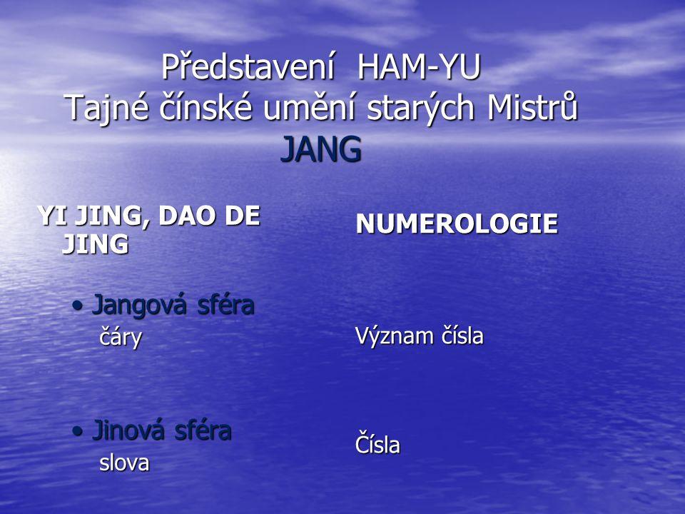 Představení HAM-YU Tajné čínské umění starých Mistrů JANG