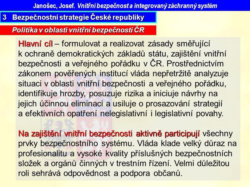 Janošec, Josef. Vnitřní bezpečnost a integrovaný záchranný systém