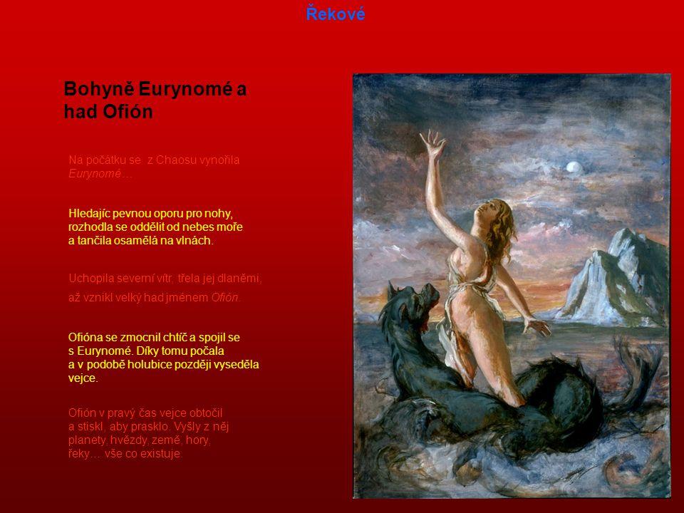 Bohyně Eurynomé a had Ofión
