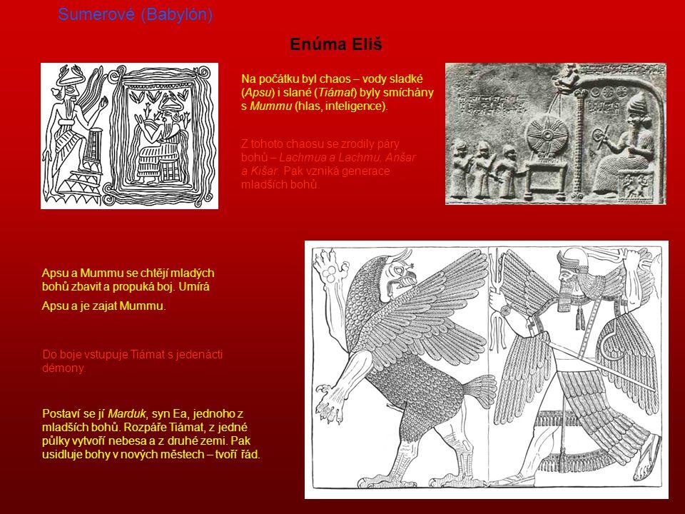 Sumerové (Babylón) Enúma Eliš