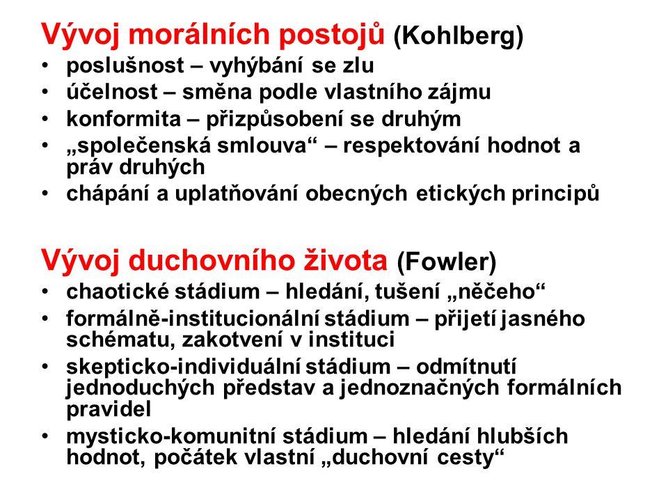 Vývoj morálních postojů (Kohlberg)