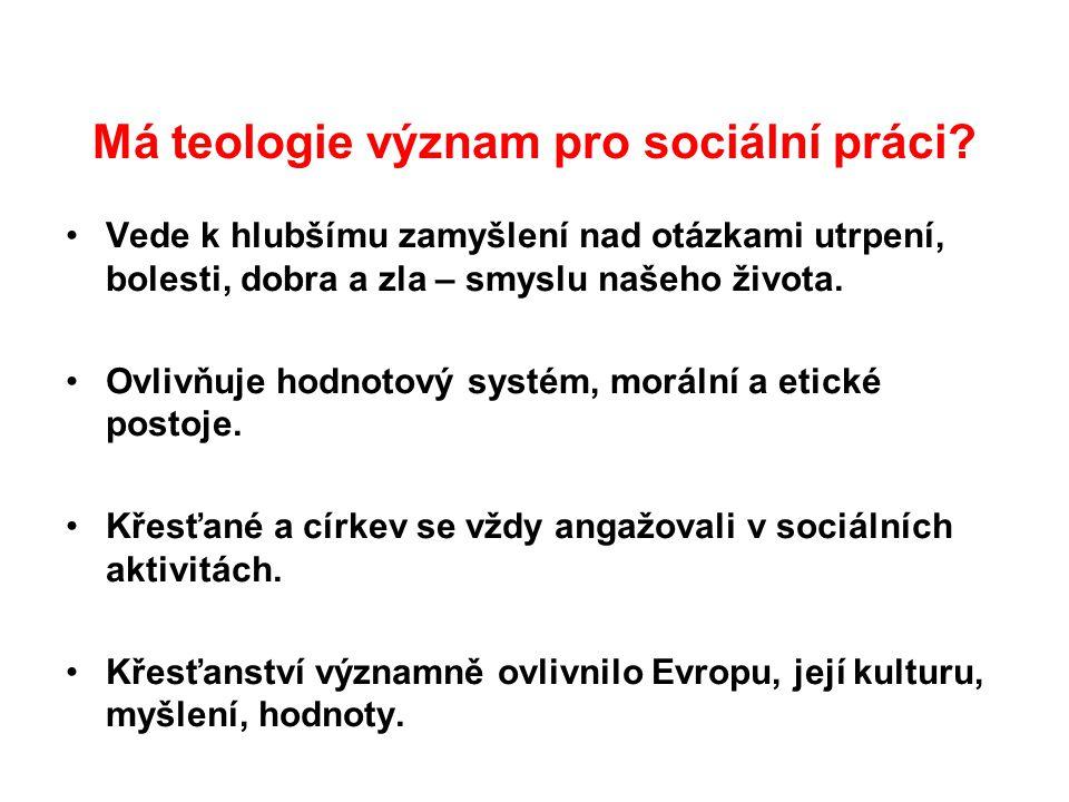 Má teologie význam pro sociální práci