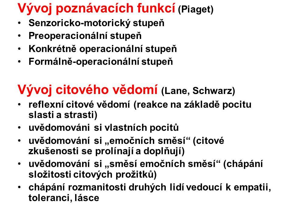Vývoj poznávacích funkcí (Piaget)