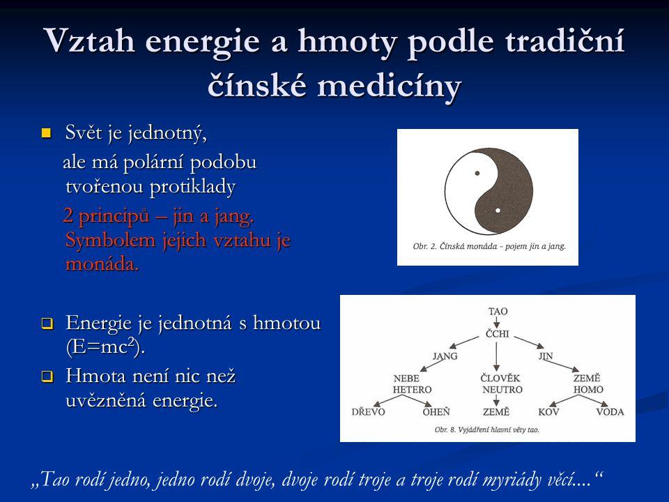 Vztah energie a hmoty podle tradiční čínské medicíny