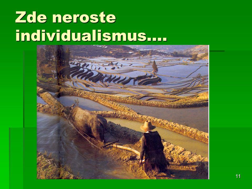 Zde neroste individualismus….