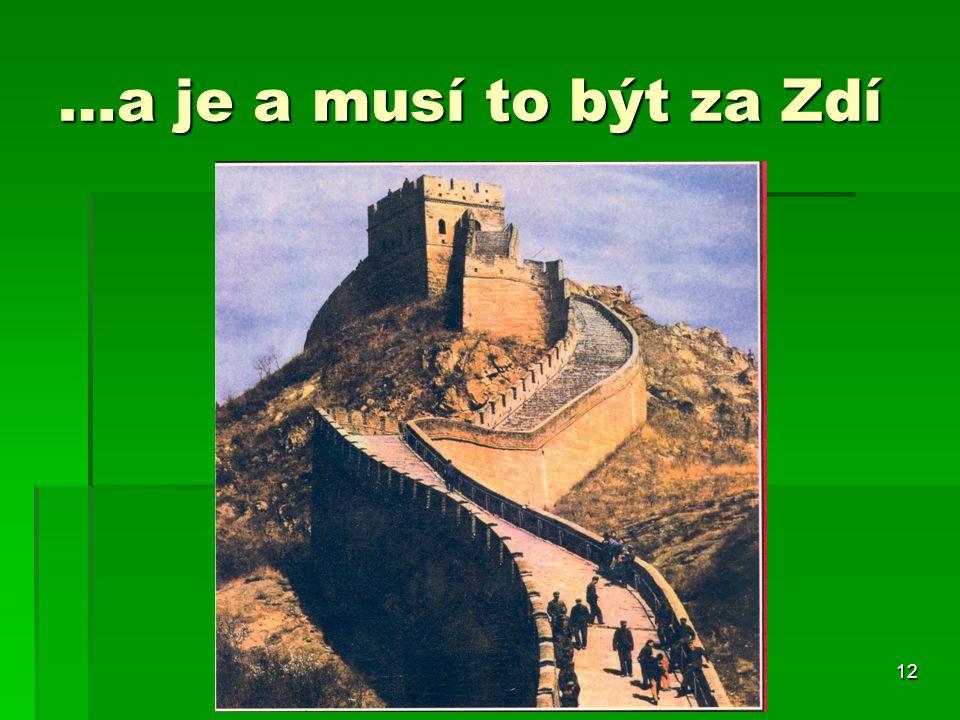 …a je a musí to být za Zdí