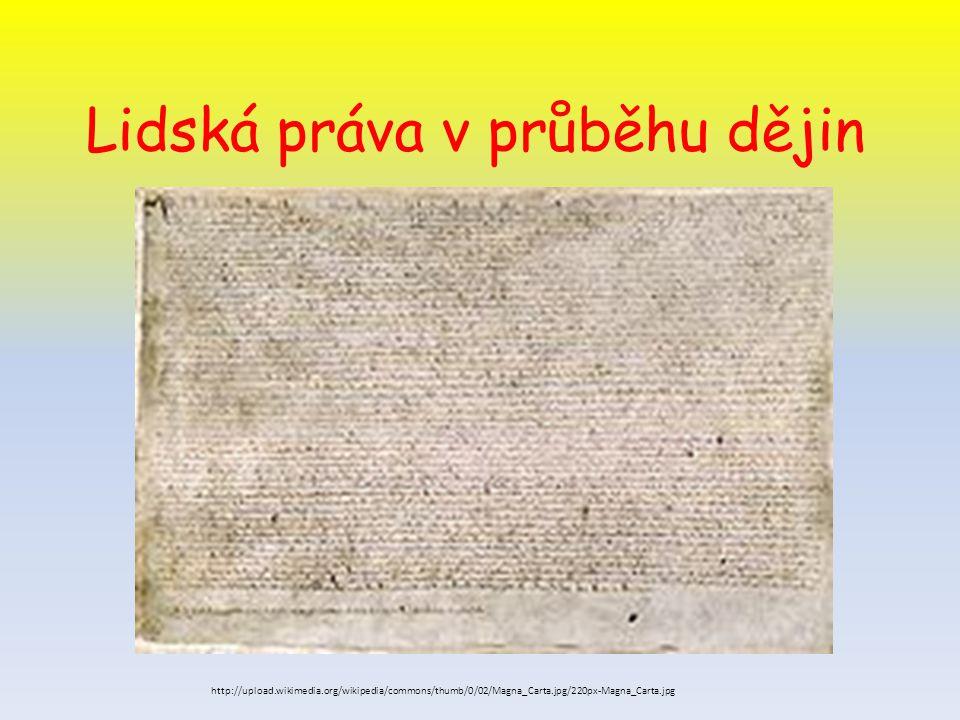 Lidská práva v průběhu dějin