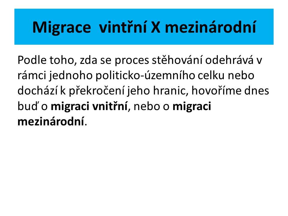 Migrace vintřní X mezinárodní