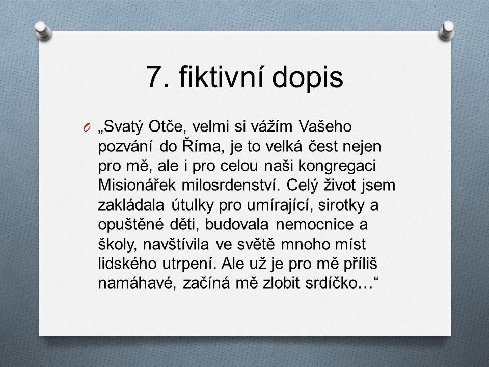 7. fiktivní dopis