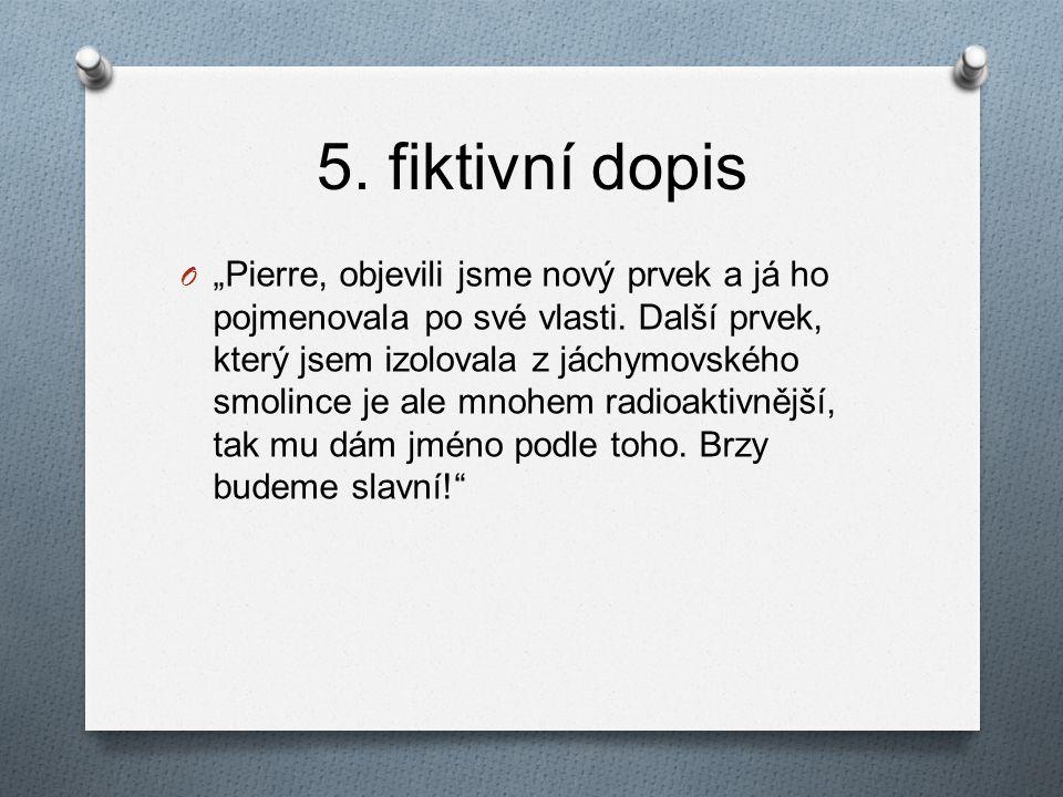 5. fiktivní dopis