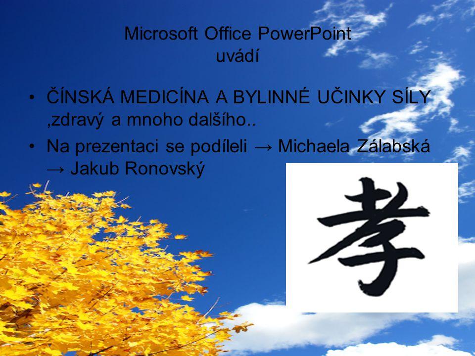 Microsoft Office PowerPoint uvádí