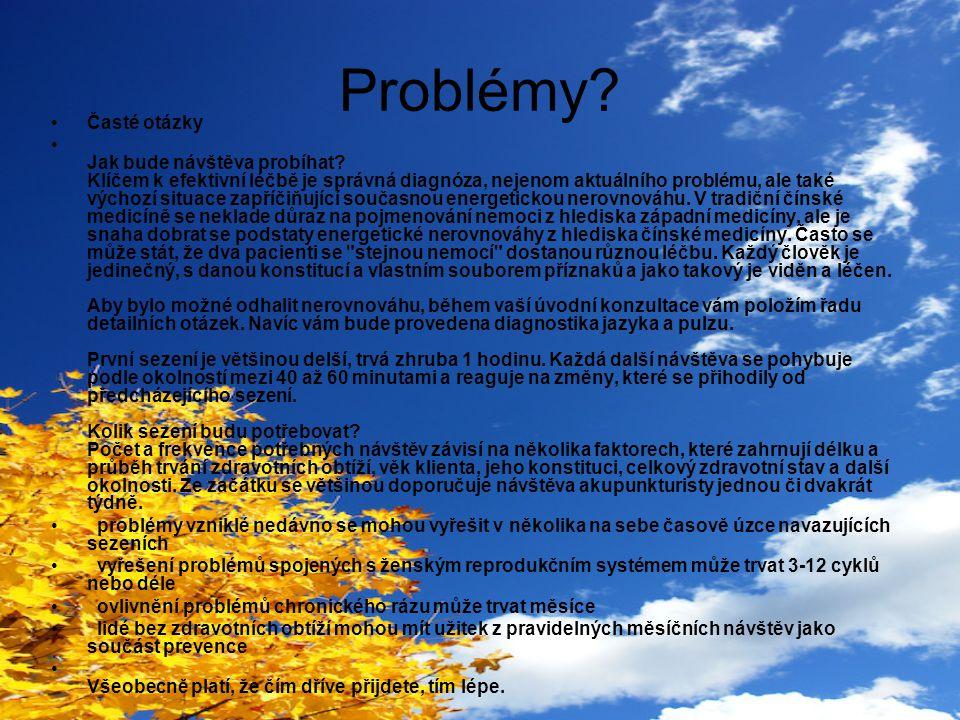 Problémy Časté otázky.