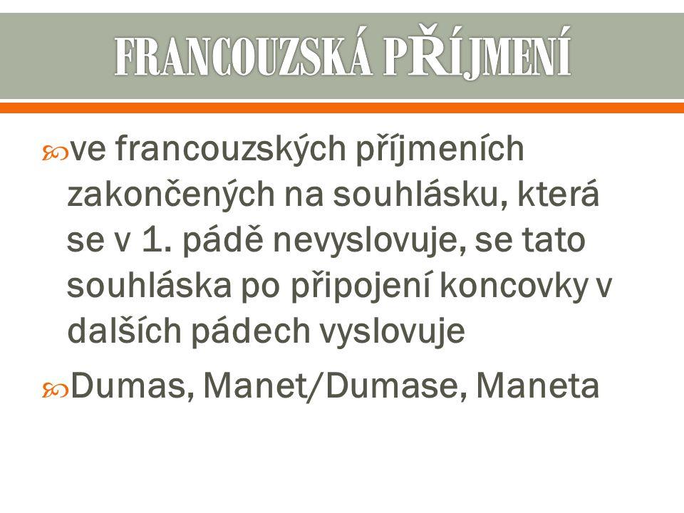 FRANCOUZSKÁ PŘÍJMENÍ